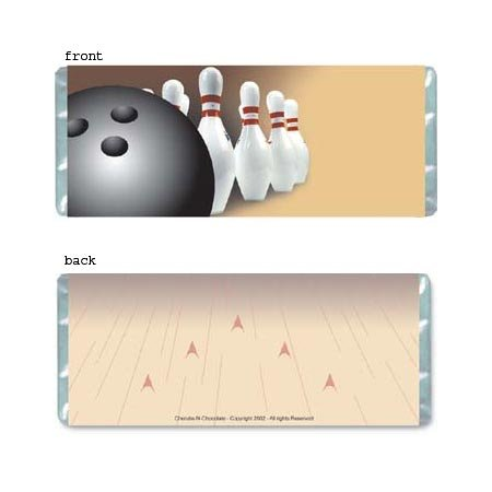 Bowling Personalized Candy Bar Wrapper AP056-C