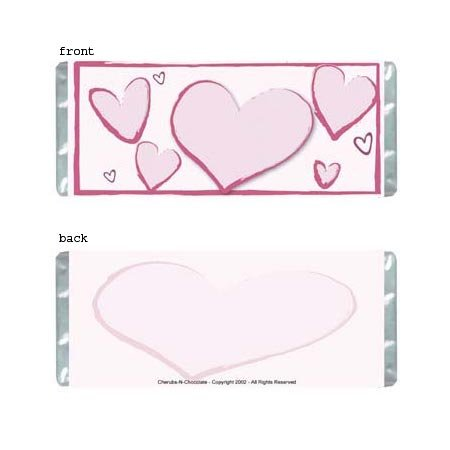 Heartfelt 1 Personalized Candy Bar Wrapper Only AP068