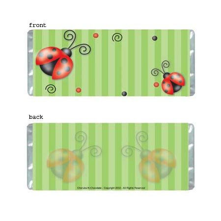 Ladybugs Personalized Candy Bar Wrapper AP071-C
