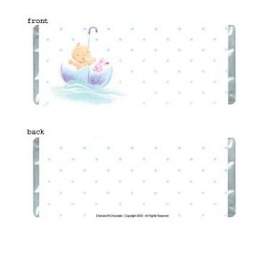Baby Bliss Personalized Candy Bar Wrapper BA037-C