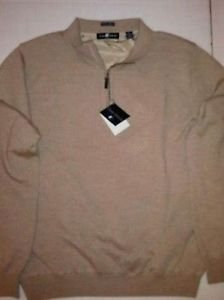 Chase Edward Men's 1/4-Zip Italian Merino Wool Golf Sweater