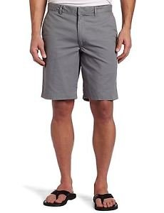 Dockers Men's D2 Straight-Fit Flat Front Solid 10-Inch 100% Cotton Khaki Shorts