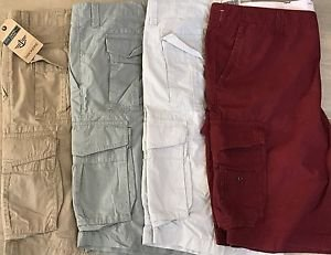 Dockers Men's D2 Straight-Fit Flat Front Solid 12-Inch 100% Cotton Cargo Shorts