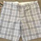 Dockers Men's D2 Straight-Fit Flat Front Plaid 10-Inch 100% Cotton Khaki Shorts