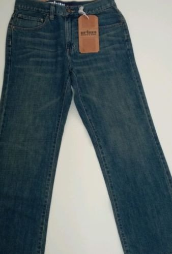 UP 100% Cotton Men's Relaxed Straight Dark Denim Jeans