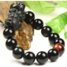 natural obsidian pi yao bracelect