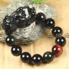 Natural Rainbow Obsidian eyes pi yao bracelect