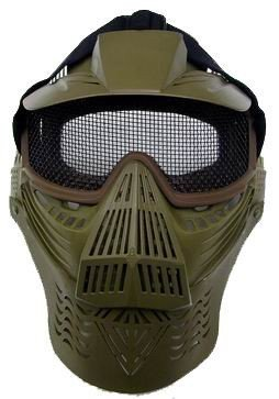Airsoft Mask - Wire Mesh Lens (olive Drab)