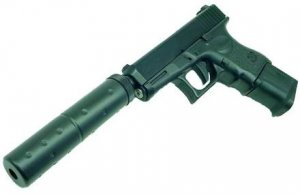 Hfc Glock 26 Replica Airsoft Gun With Silencer (blowback)