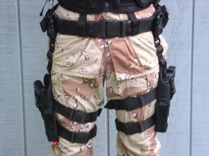 Pistol belt and Left and Right Tactical Holsters