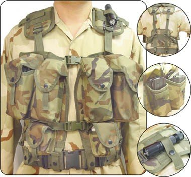Camouflage Multi-Functional Tactical Vest  with OD Pistol belt
