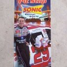 2001 Kevin Harvick 29 RCR SONIC Menu Board Display Panel Sign NASCAR ROOKIE YEAR
