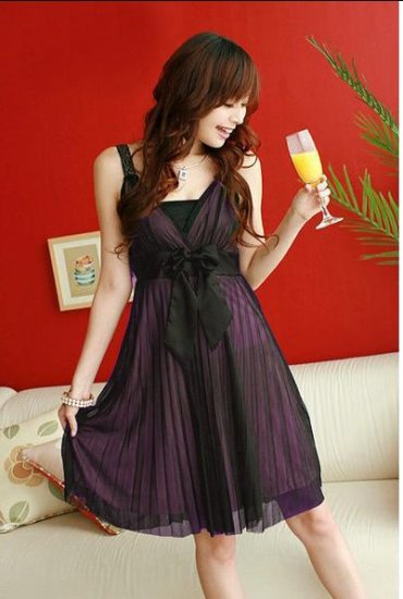 Chiffon Silk Screen Dress F2-R120 #0021