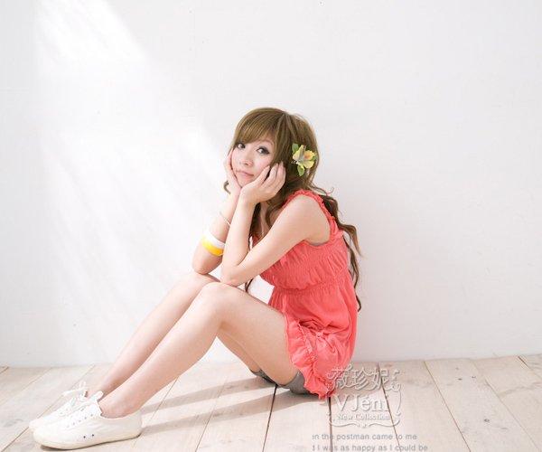 Korean Refreshing Korean Style Sleeveless Lovely Colorful Braces Dress #0210