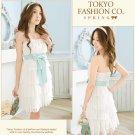 Japanese Fashion Sweet layered Dress White #601
