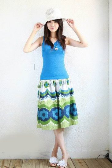 Korea Girl Lovely Floral Skirt/Dress #0403