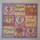 Sweet, Love, Dreams  Cross Stitch Kit New
