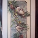 Chickadees On A Branch Stamped Cross Stitch Kit New