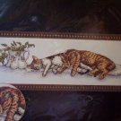 Sleeping Cats Cross Stitch Kit New