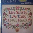 Live,Love,Laugh Cross Stitch Kit New