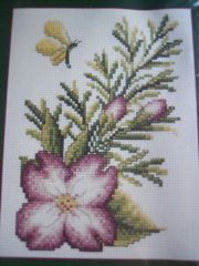 Dogwood Blossom Cross Stitch Kit New