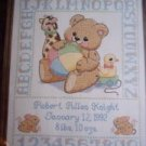 Bear Birth Sampler Cross Stitch Kit New