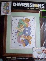 Sweet ABC'S No Count Cross Stitch Kit New