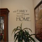Vinyl Wall Decal Art - Add Family