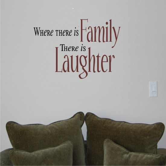 Vinyl Wall Decal Art - Where there is Family...