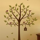 Tree with Birdhouse Set - Vinyl Wall Decal
