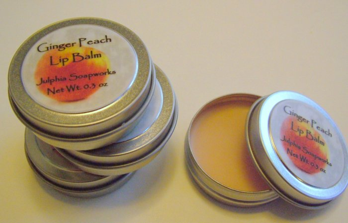 SALE Ginger Peach Lip Balm 0.30 oz Tin