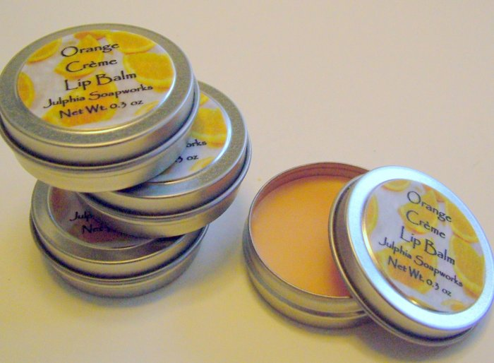 SALE Orange Crème Lip Balm 0.30 oz Tin