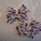 2.5 inch Korker hair clips - set of 2 - pink camo