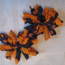 2.5 inch Korker hair clips - set of 2 - halloween