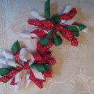 2.5 inch Korker hair clips - set of 2 - Christmas