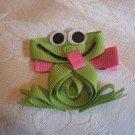 Handmade Frog Alligator clip