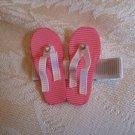 Handmade Flip Flop Alligator clip - pink