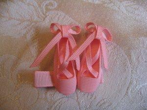 Ballet Slippers Alligator clip - Pink