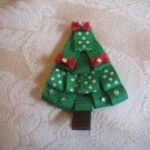 Handmade Christmas tree Alligator clip