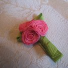 Mini Rose Bouquet Alligator clip - pink
