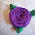Large Rose Bouquet Alligator clip - Purple