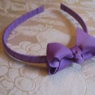 Hard Bow Headband - purple