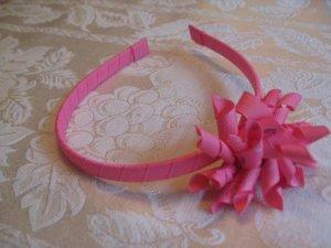 Hard Korker Headband - hot pink hearts