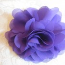 Elegant Flower Puff Alligator clip - purple