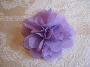 Elegant Flower Puff Alligator clip - lavender