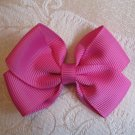Handmade Bow Alligator Clip - Hot Pink