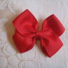 Handmade Bow Alligator Clip - Red