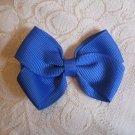Handmade Bow Alligator Clip - blue