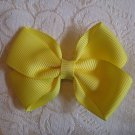 Handmade Bow Alligator Clip - yellow
