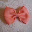 Handmade Bow Alligator Clip - salmon